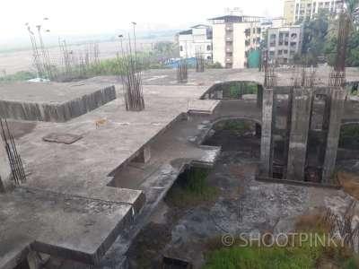 Construction site near station