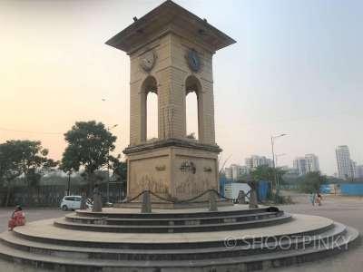 Mini clock tower and road thane