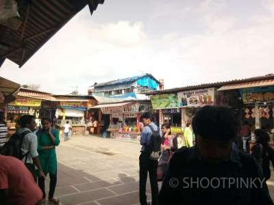 Beach food stalls